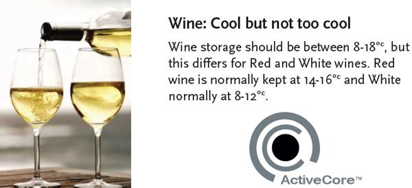 Wine fridges require specialised temperatures for white