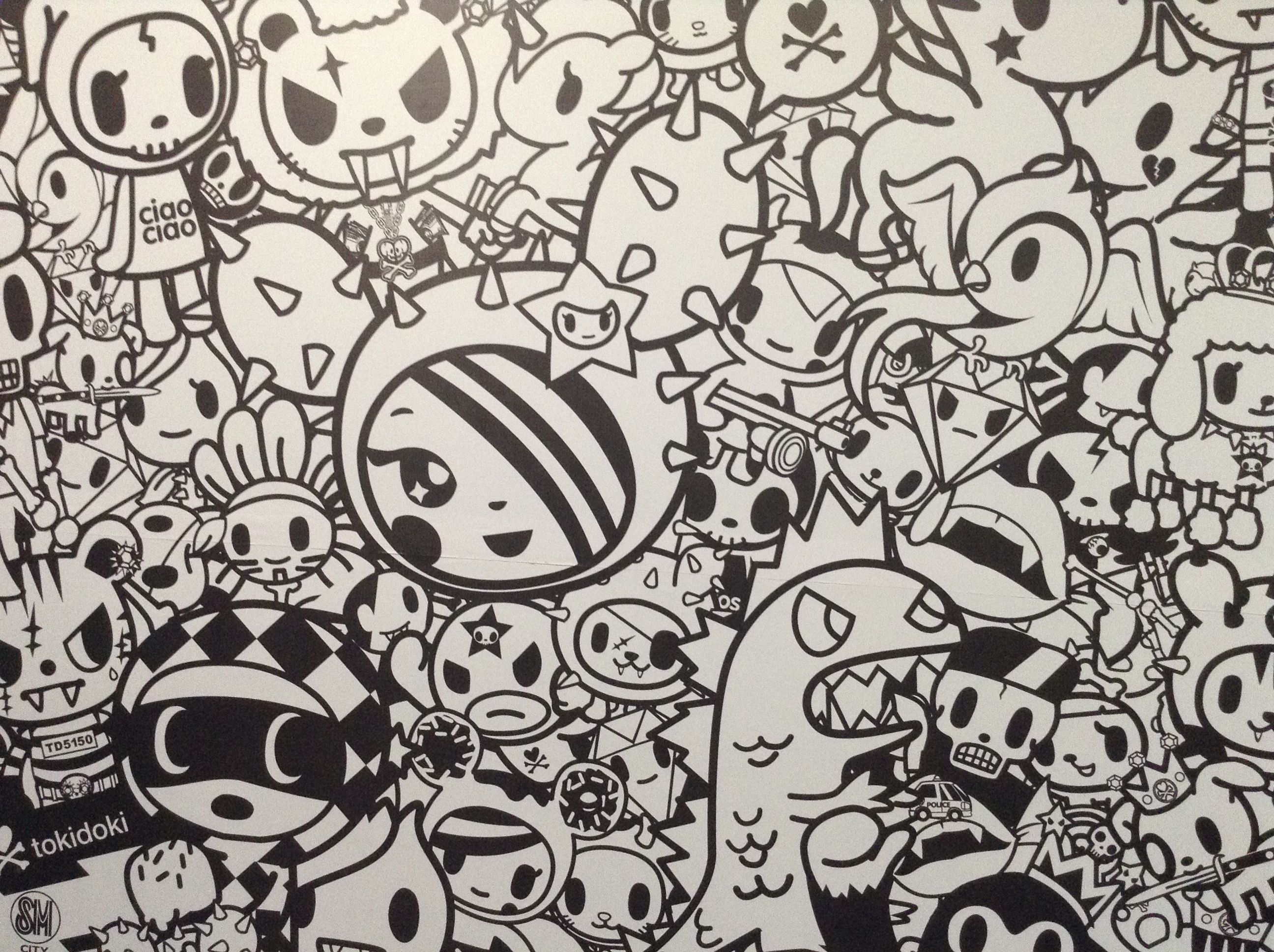 tokidoki unicorno coloring pages - Tokidoki Donutella Coloring Pages