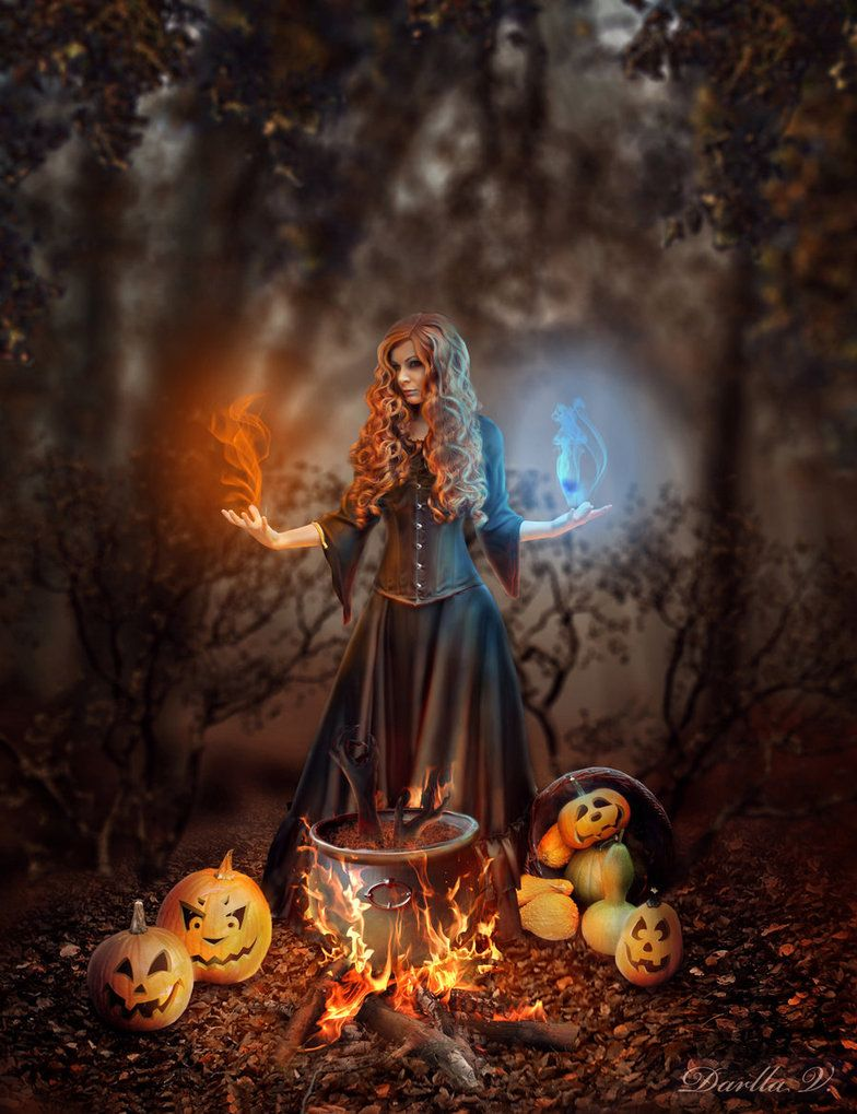 halloween fantasy art halloween witch by vampiredarlla on deviantart - Halloween Which