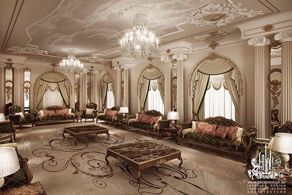 Exterior majlis design casaprestige majlis pinterest for Classic villa interior design