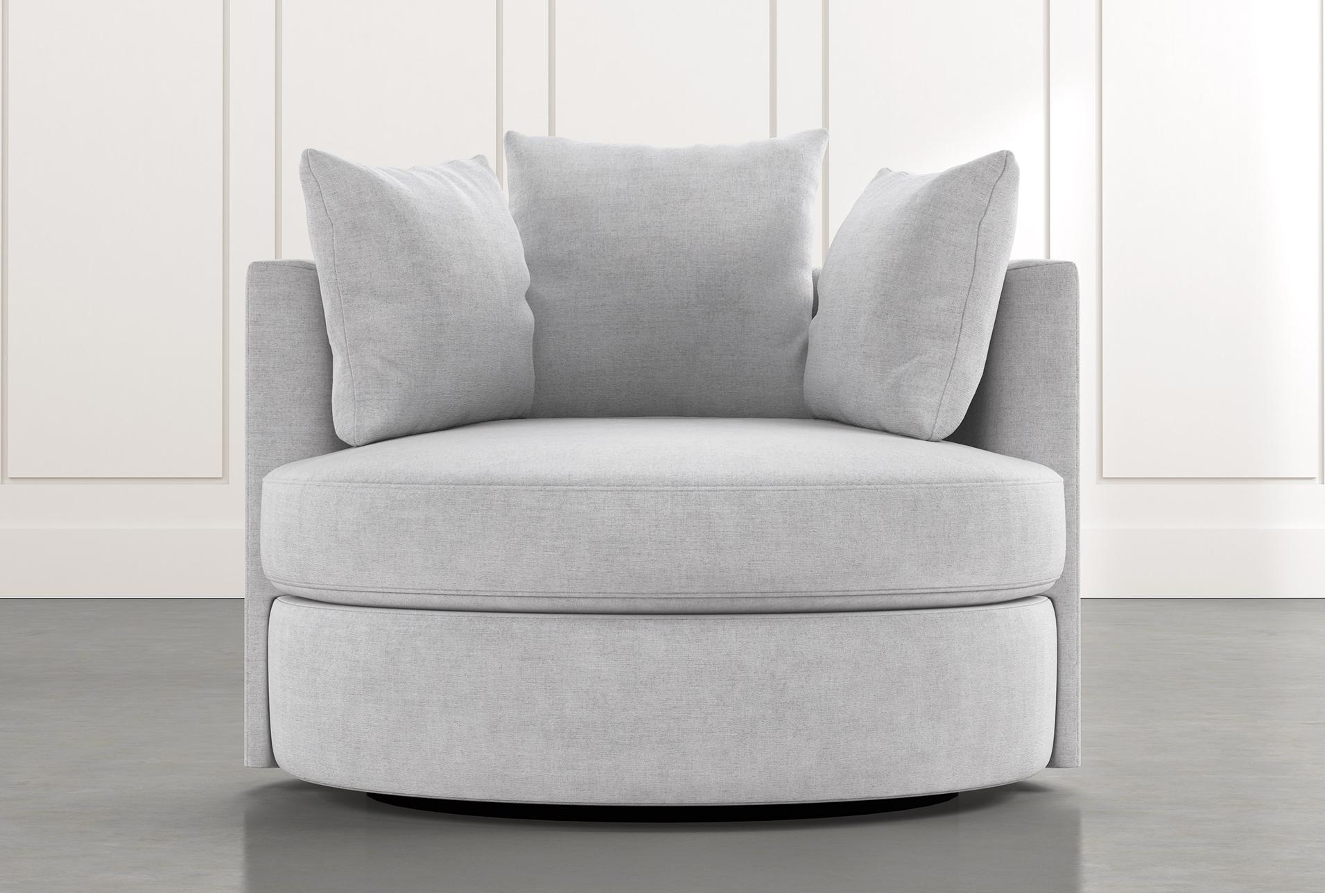 Gibson Ii Light Grey Swivel Cuddler In 2021 Living Room Chairs Comfy Sitting Room Decor Swivel Chair Living Room