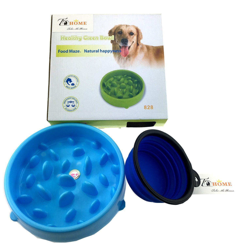 Aduck Slow Feed Dog Bowl Anti Gulping Pet Food Feeder Stopping