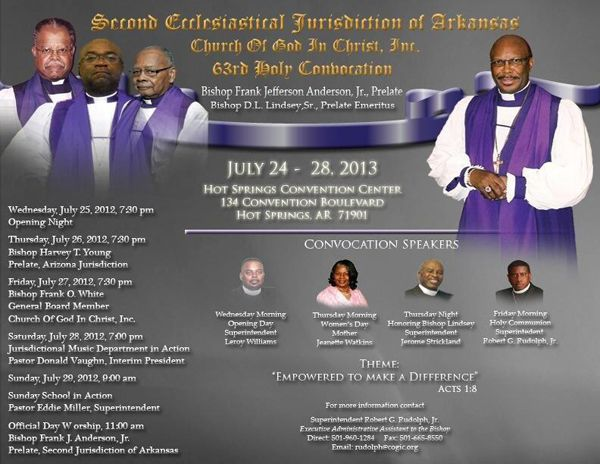 Bishop Frank Jefferson Anderson, Jr  & the Second