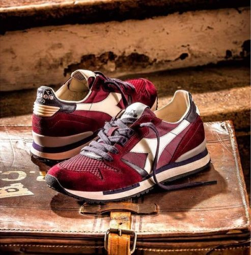 Diadora Heritage Exodus NYL 90 Mens Classic Trainers Shoes in ... 7cfa8d896