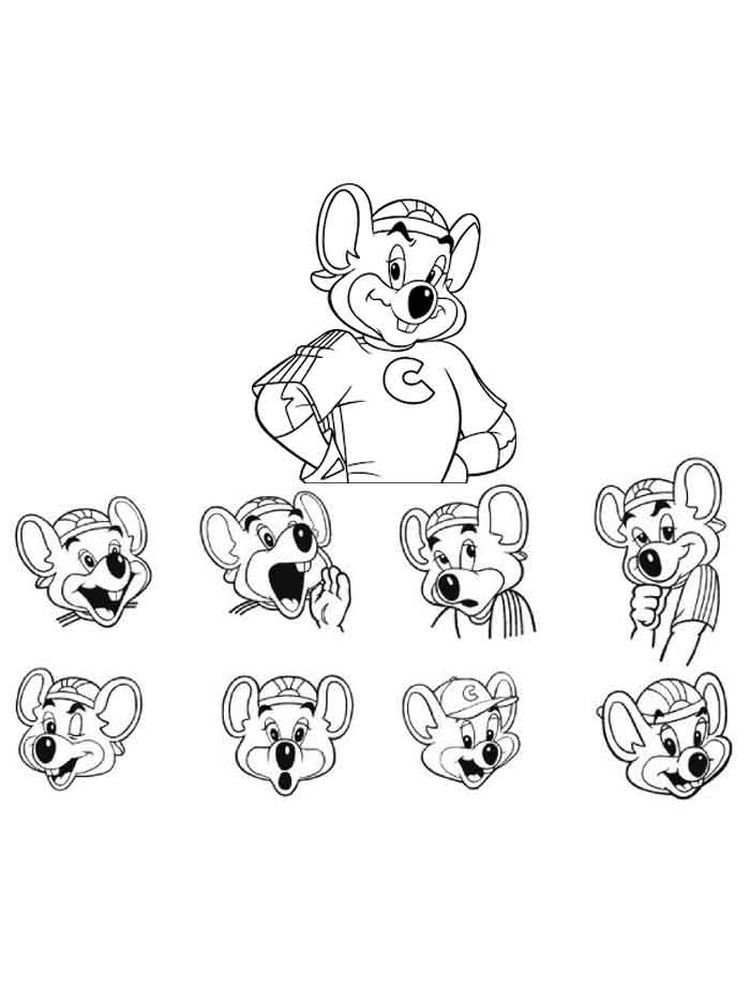 Chuck E Cheese Coloring Pages Print Chuck E Cheese S Is A Chain Of American Family Entertainment Center In 2020 Coloring Pages To Print Chuck E Cheese Coloring Pages