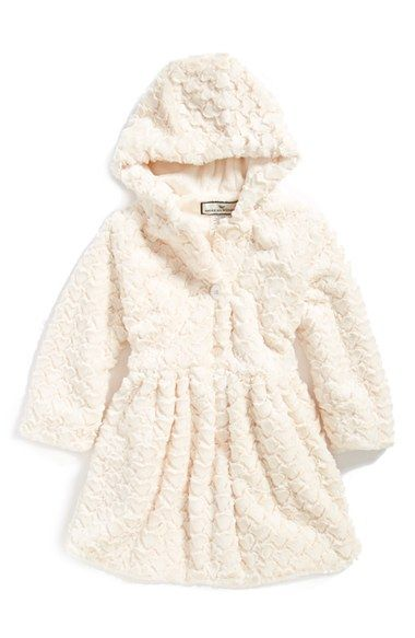 d93044e08 Widgeon Button Front Faux Fur Coat (Toddler Girls
