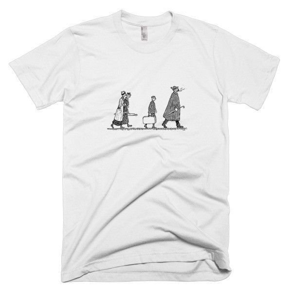 Short sleeve men's t-shirt - People Walking