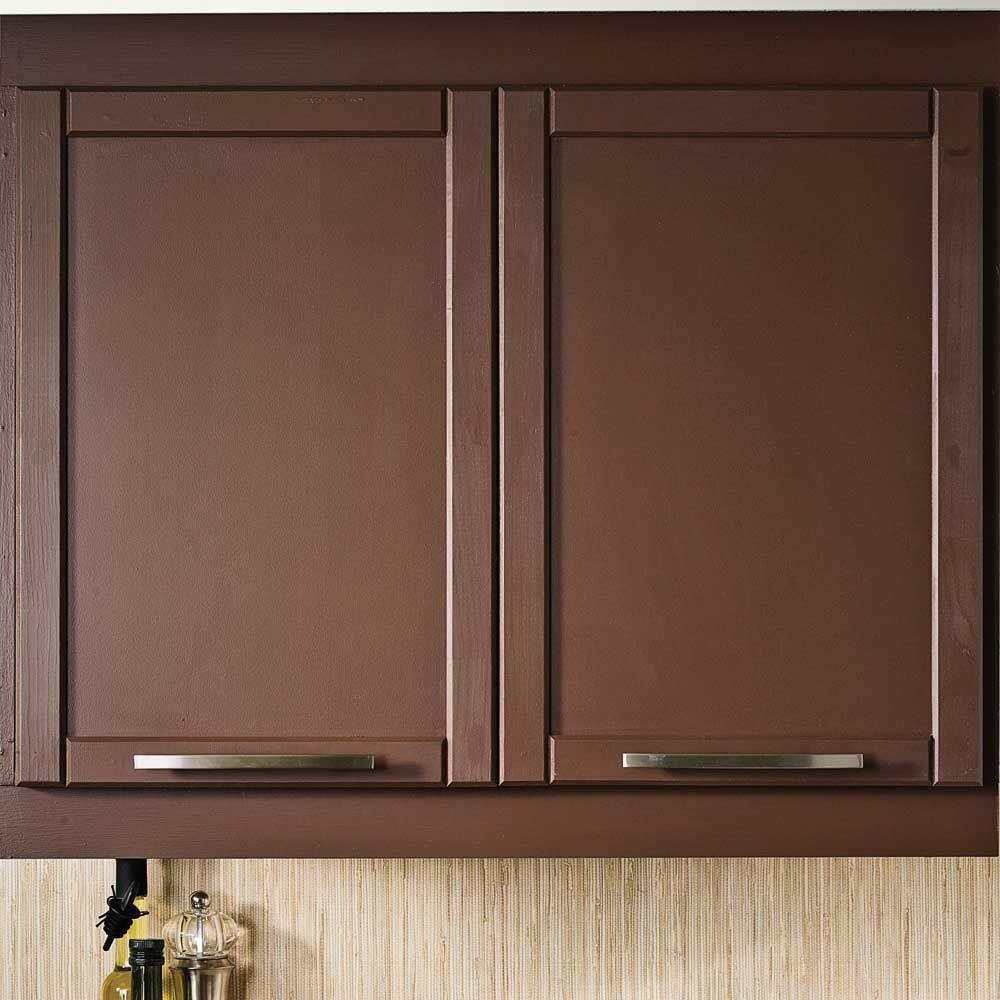 Transformer une armoire de m lamine avec des moulures en tapes d coration et r novation - Peinture d armoire de cuisine ...