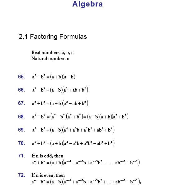 Algebra Formulas Math Algebraic Expression For Class 9 Algebra Formulas Algebraic Expressions Maths Formulas List