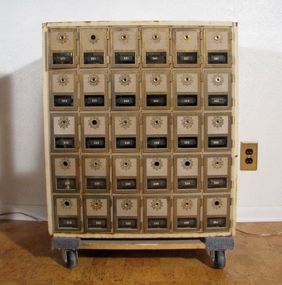Antique Furniture Supplies Mail: RESERVED For AshyH Industrial Storage Unit Post Box Mail