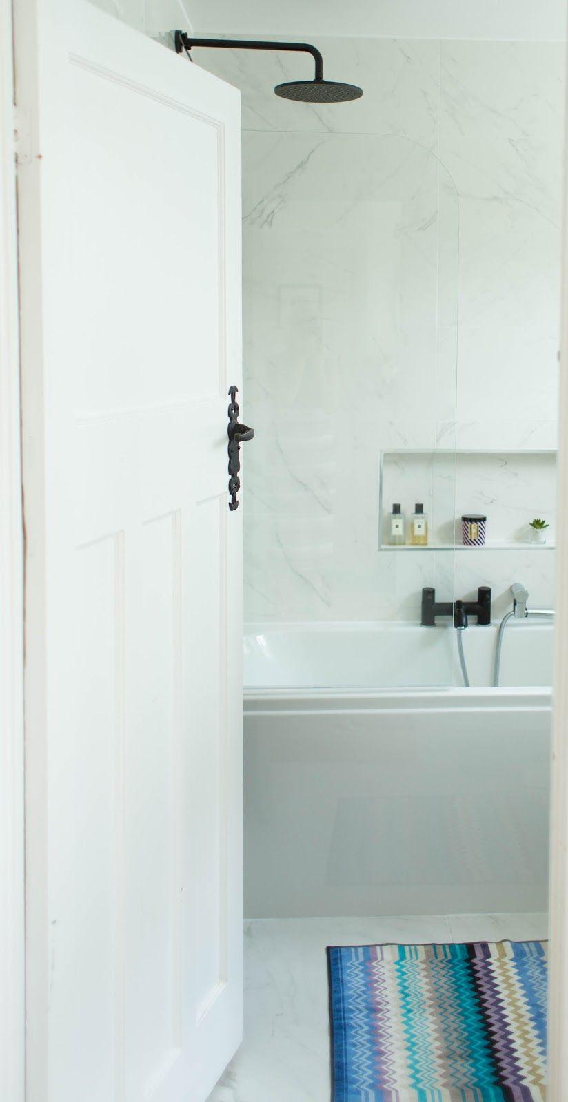 Make Over New Marble Monochrome Bathroom White Marble