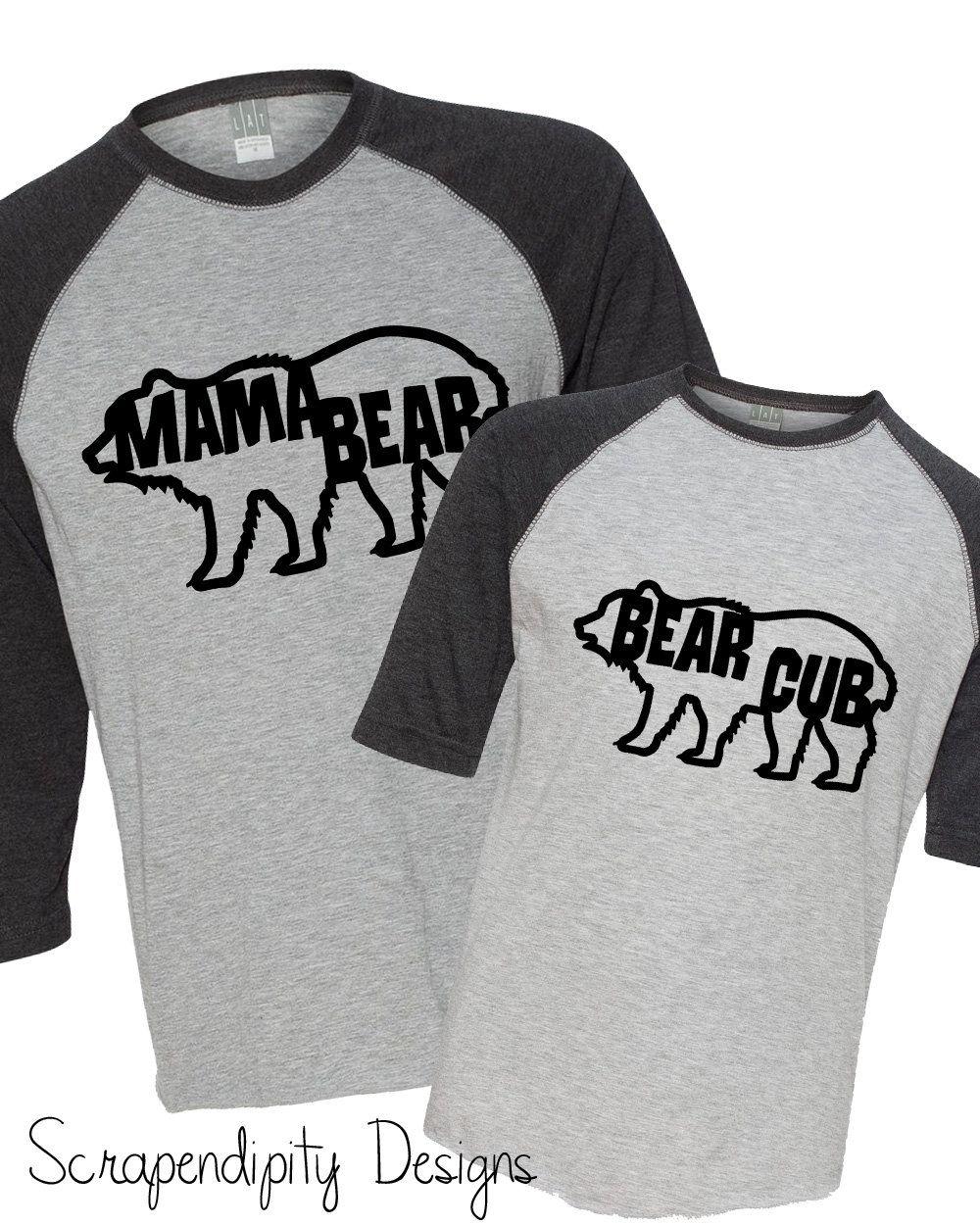 737fc1d9 Mama Bear Shirt, Bear Cub Shirt, Mother's Day Shirt, Mom Daughter Shirts,  Mom Son Shirts, Matching Family Tshirts, Mama Bear Tshirt, Camping