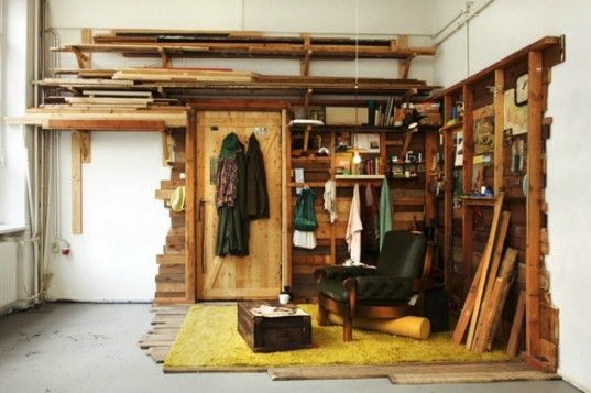 Ethan Hayes Chute S Quirky Wooden Shacks Are A Delightful Hodgepodge Of Found Materials Wooden Shack Man Room House