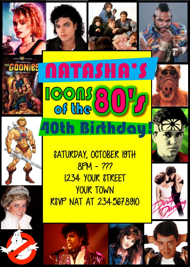 Cheap 80s Invitations
