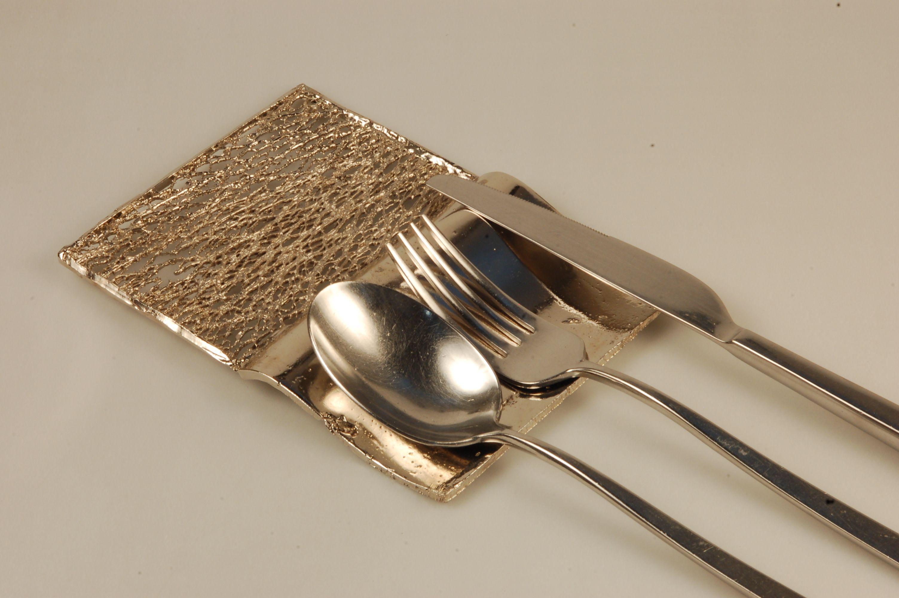 Poggia posate da tavola in metallo metal cutlery holder for table porte couverts de table en - Poggia posate da tavola ...