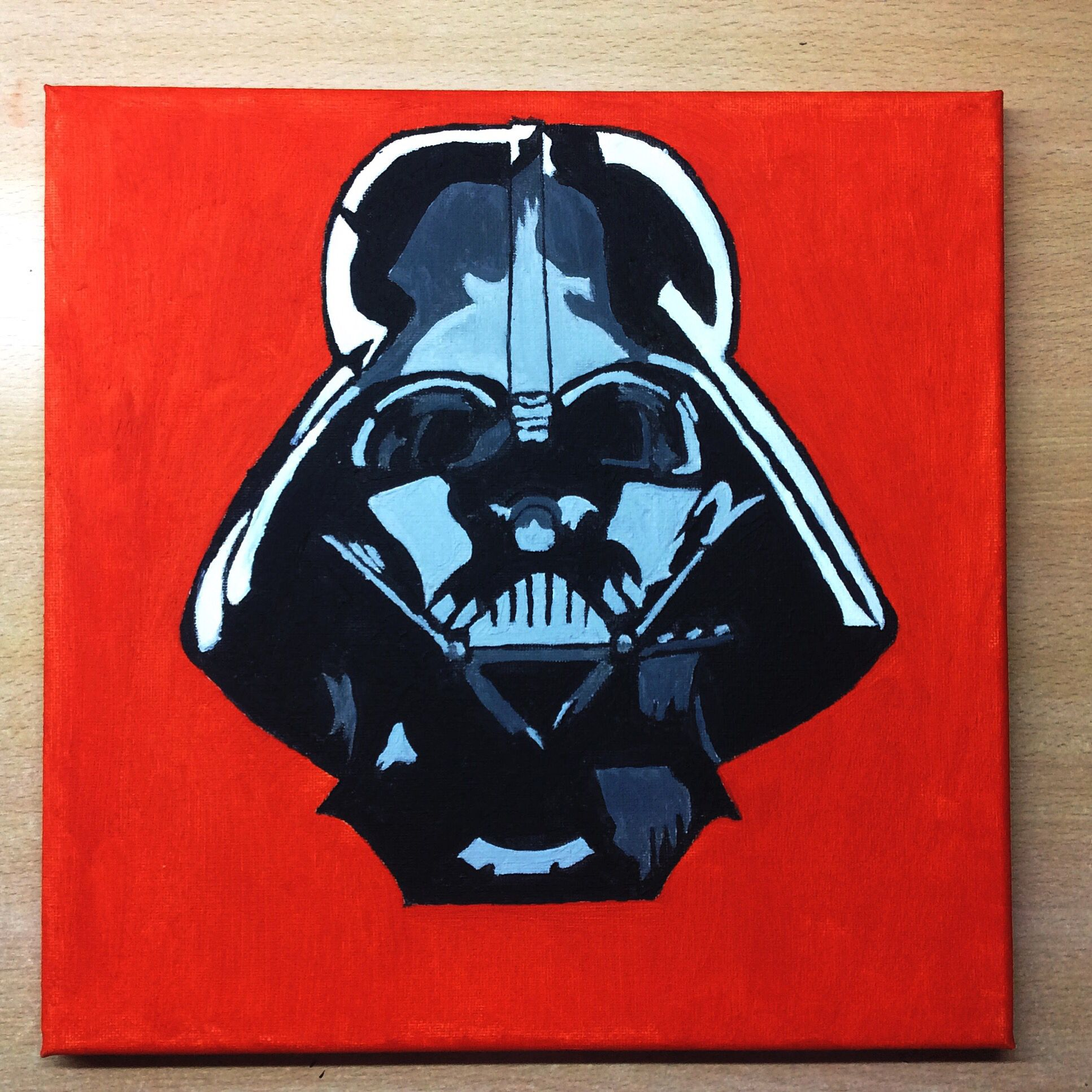"""I'm your father""   #ilustration #art #paint #draw #drawing #painting #Oil #DarthVader #skywalker #anakin #Luke"