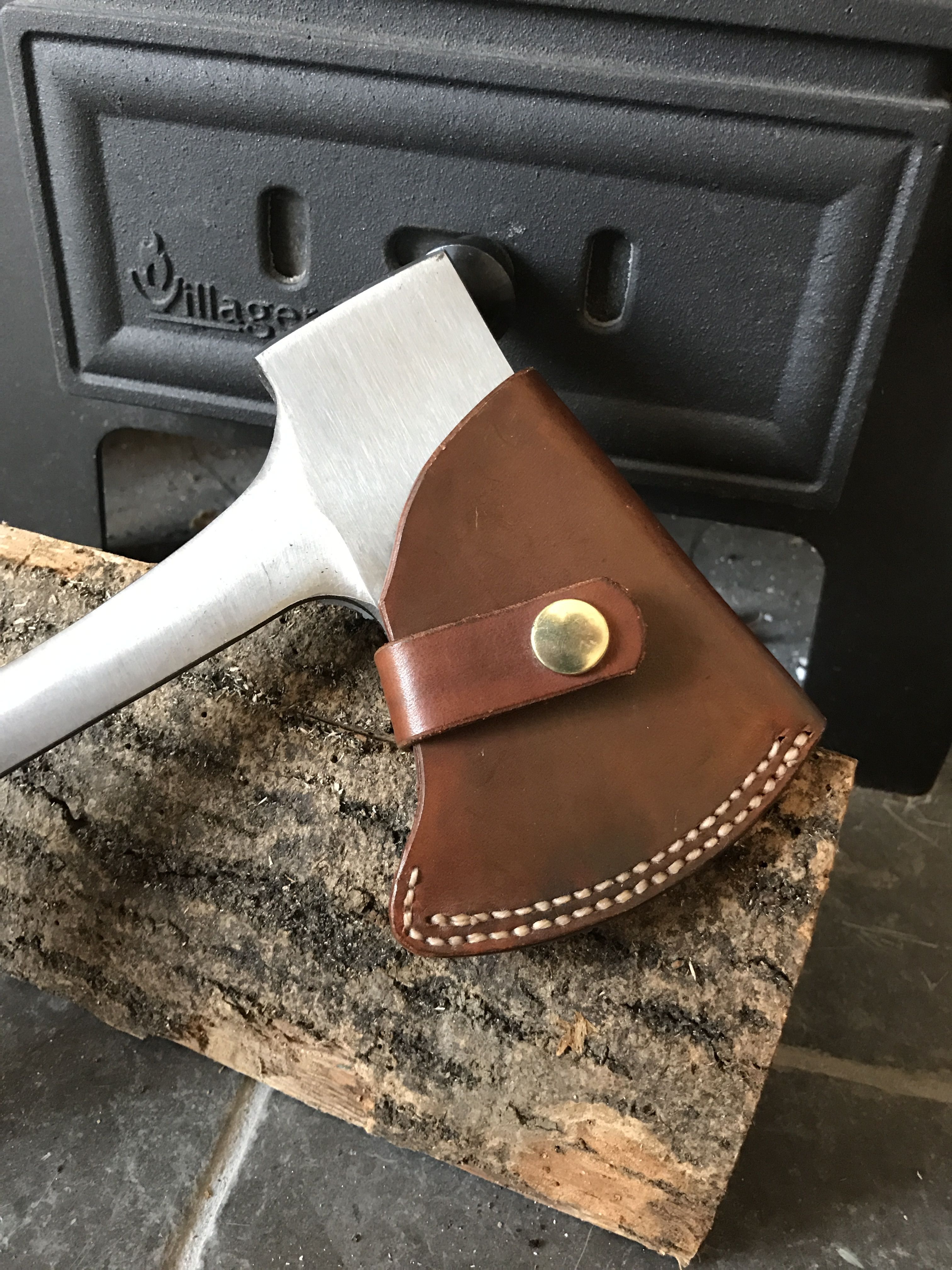 hand made leather hatchet cover ax cover pinterest knives