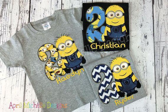 235a6902f Boys Minion Birthday Shirt Birthday Personalized Minion Boys   diy ...