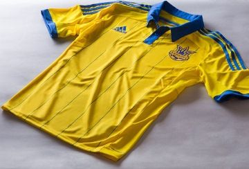 Ukraine 2014/15 adidas Home Kit