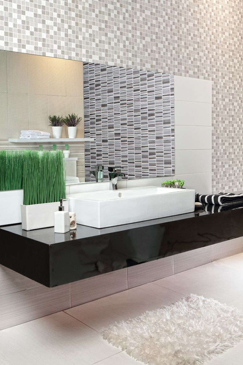 Walltiles Using Corum 20x50 Platinumceramics Bathroom Inspiration Lighted Bathroom Mirror Wall Tiles Platinum ceramic bathroom design