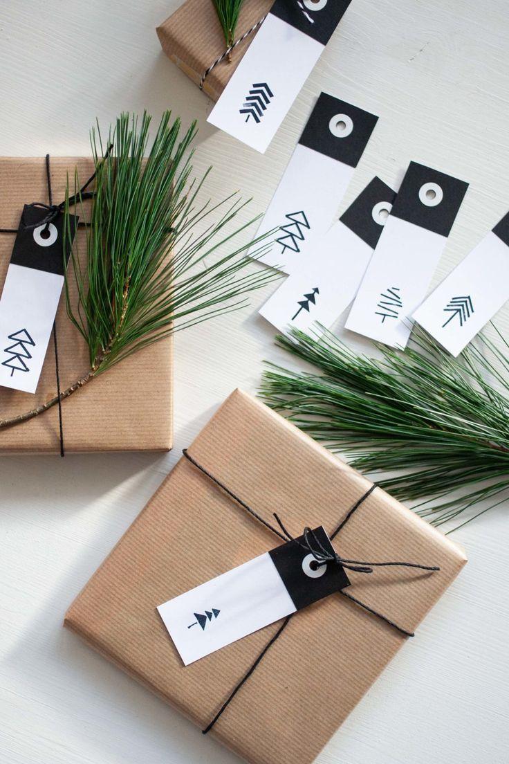 Geschenkanhänger Vorlage für Weihnachten als Freebie-Download #geschenkanhängerweihnachten