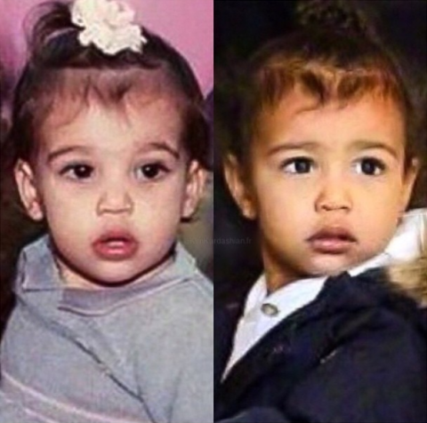 44 Celebrity Mothers And Daughters At The Same Age Celebrity Kids Kim And North Celebrity Babies