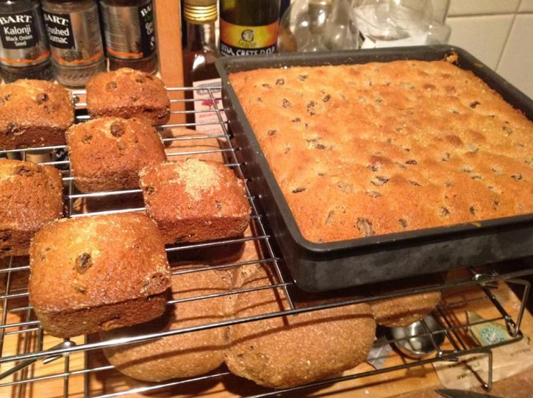 Light Fruit Cake Tray Bake Recipe