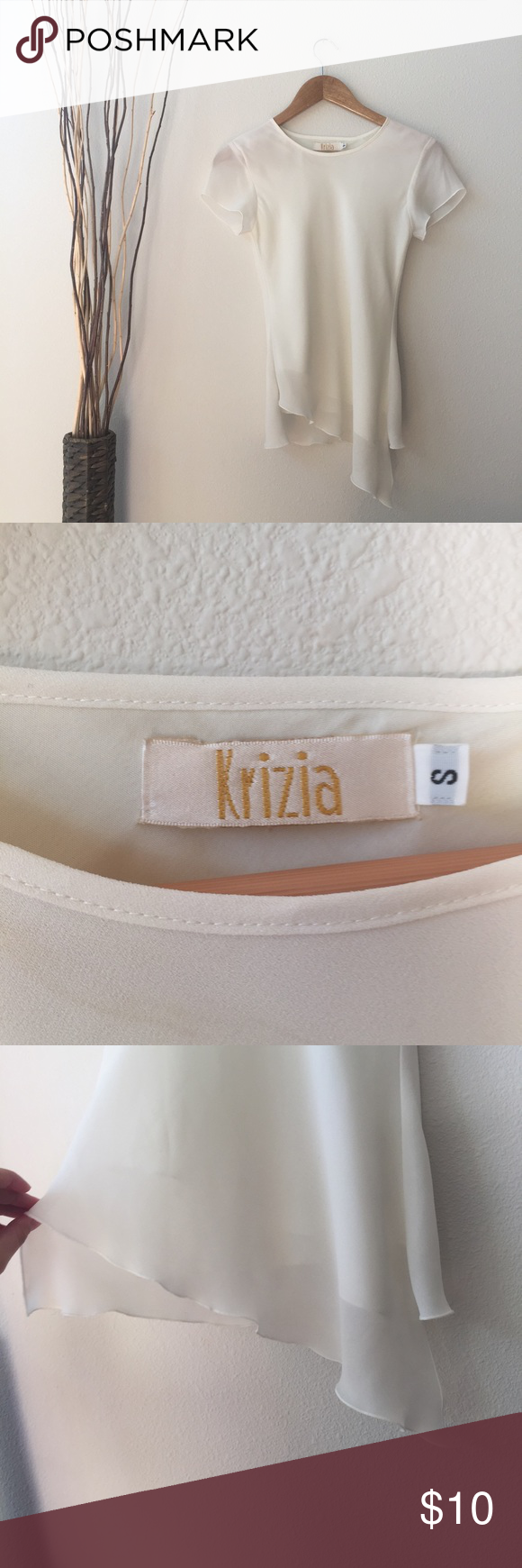 Kiriza Blouse • This gorgeous top is in great condition! The bottom is slanted! • No Damage!  • Smoke and Pet free home!  • YES Reasonable Offers✅ • No Trading❌ • No Modeling❌ kiriza Tops Blouses
