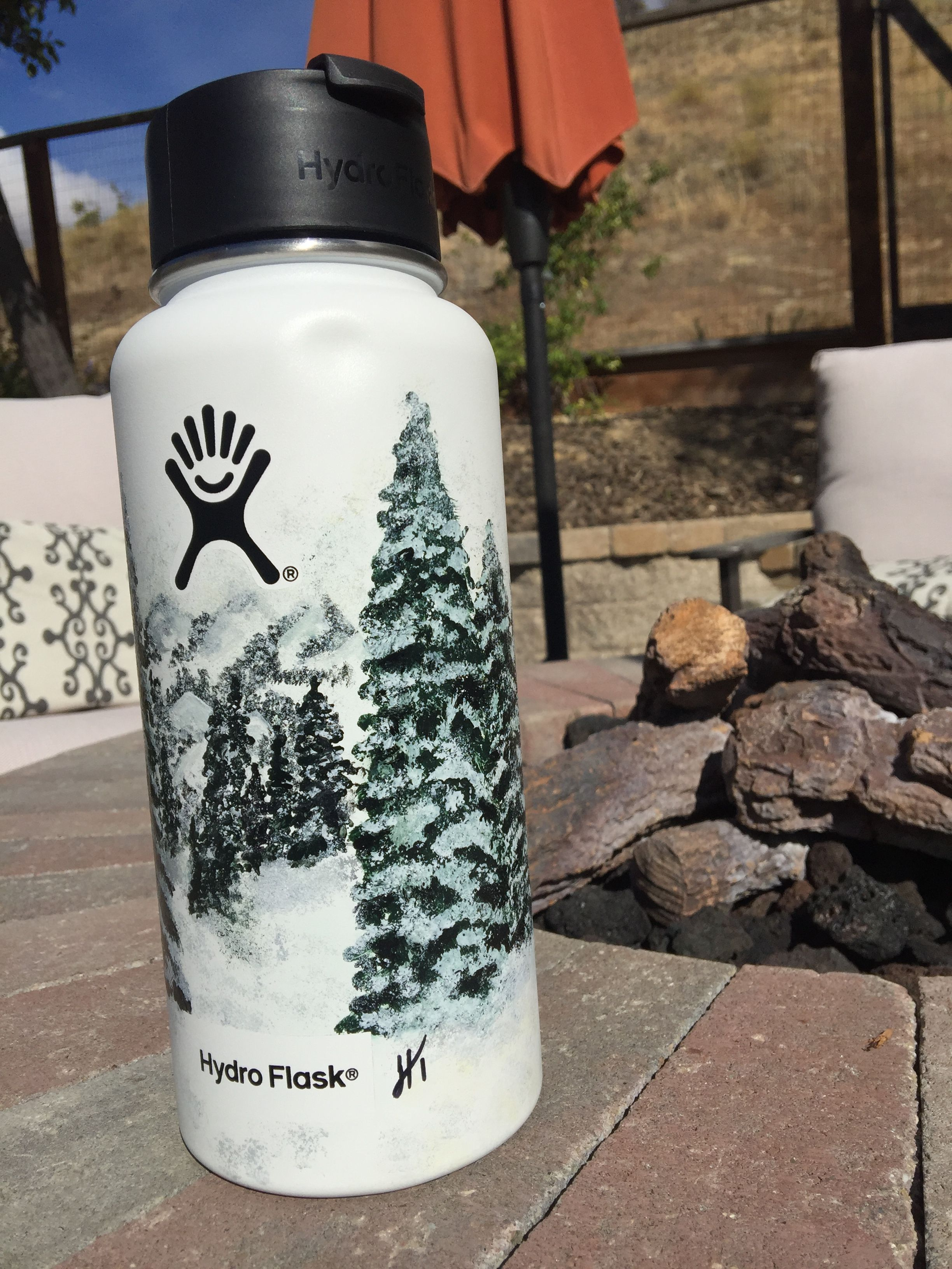 Hand painted hydro hydroflask hydro painting hydro flask stickers hydro flask water