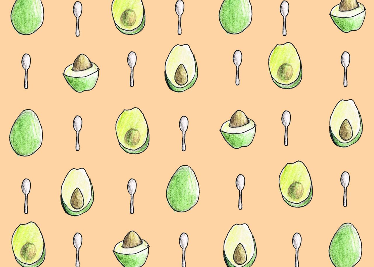 Avocado pattern Illustration design, Glass art projects
