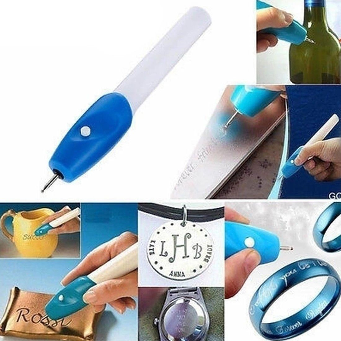 DIY Engraver Pen Electric Engraver for Jewelry Making Metal Glass with Diamond Tip Bits Electric Engraver Pen Engraving Tools
