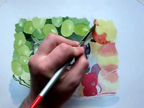Grapes Full 90 Minute Watercolour Painting Youtube