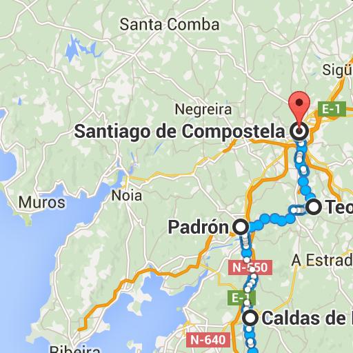 Google Maps   El Camino   Santiago de compostela, Santiago ... on
