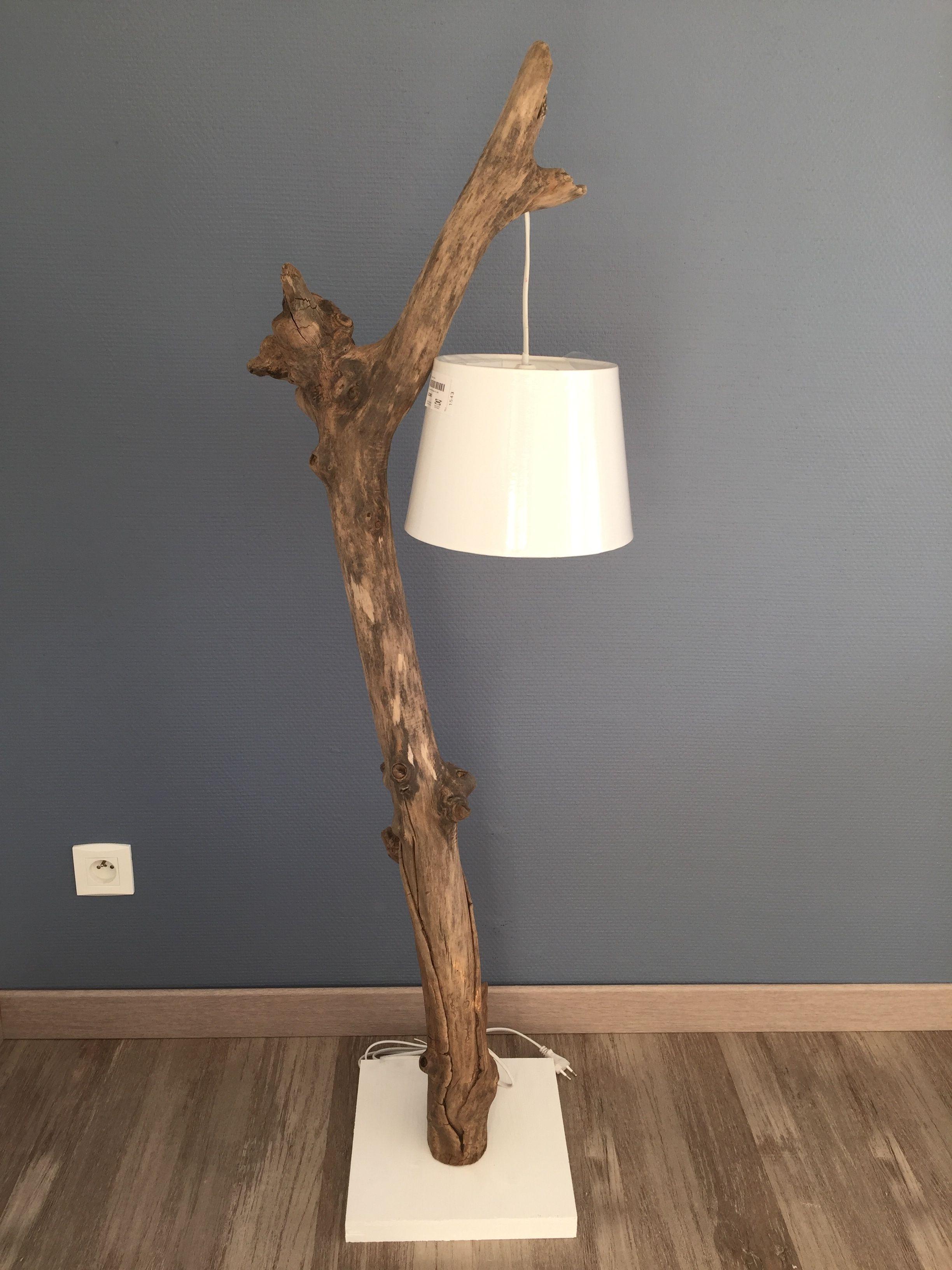 Lampe Hagrid bois flott