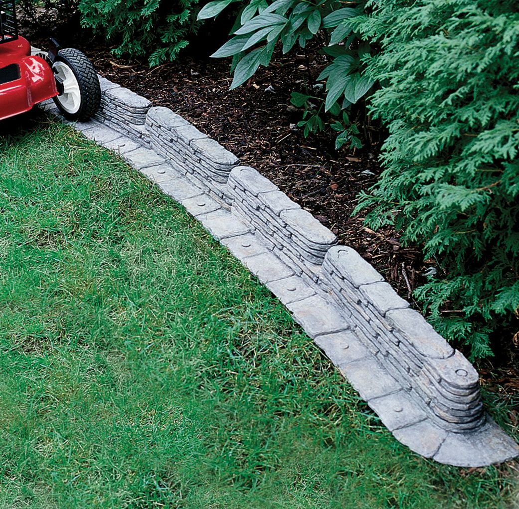 bedrocks lawn edging adds stunning