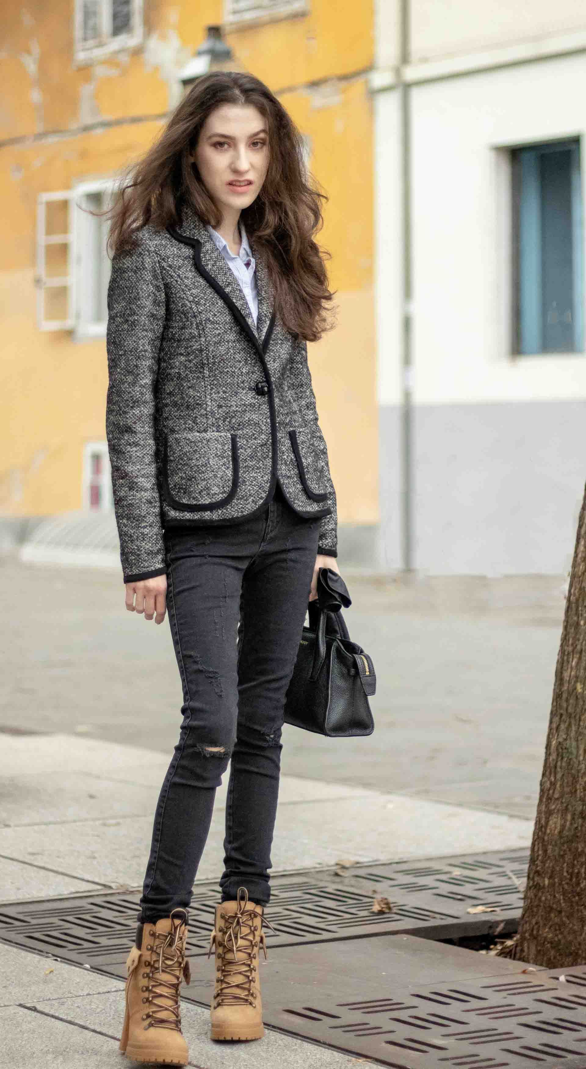 Most Read Slovenian Fashion Blogger Veronika Lipar Of Brunette From Wall Street Wearing Diesel Black Skinny Jea Fashion Summer City Fashion Ladies Tops Fashion