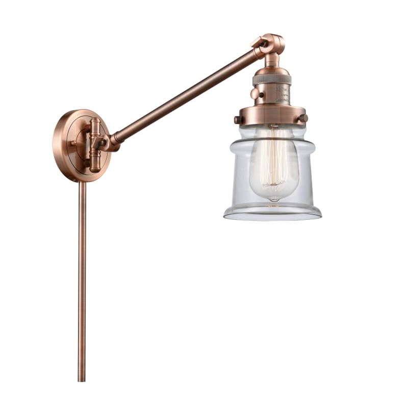 "Photo of Innovations Lighting 237 Small Canton Small Canton Single Light 25 ""Tall Bathroo Antique Copper / Clear Indoor Lighting Bathroom Fixtures Bathroom"
