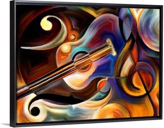 Music Night Music Painting Canvas Music Painting Guitar Painting