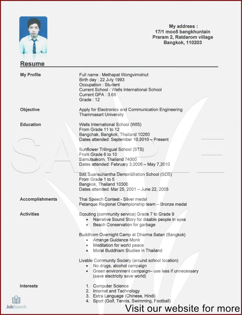 Make A Resume Online
