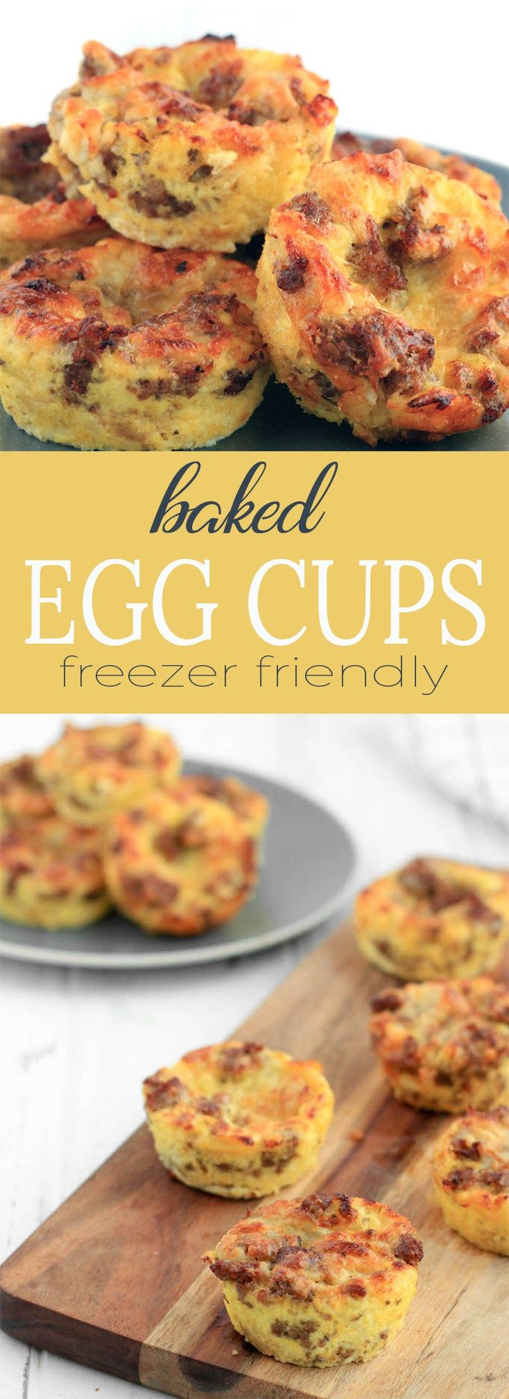 Freezer Friendly Baked Egg Cups Recipe Baked Egg Cups