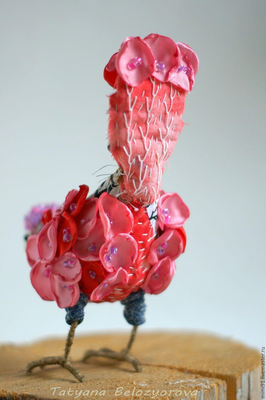 Купить Райская птичка - комбинированный, птичка, боро, лоскутное шитье, авторская ручная работа, лоскутки