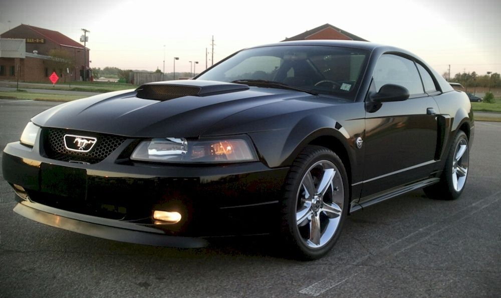 black 2004 mustang gt coupe i have the 40th anniversary