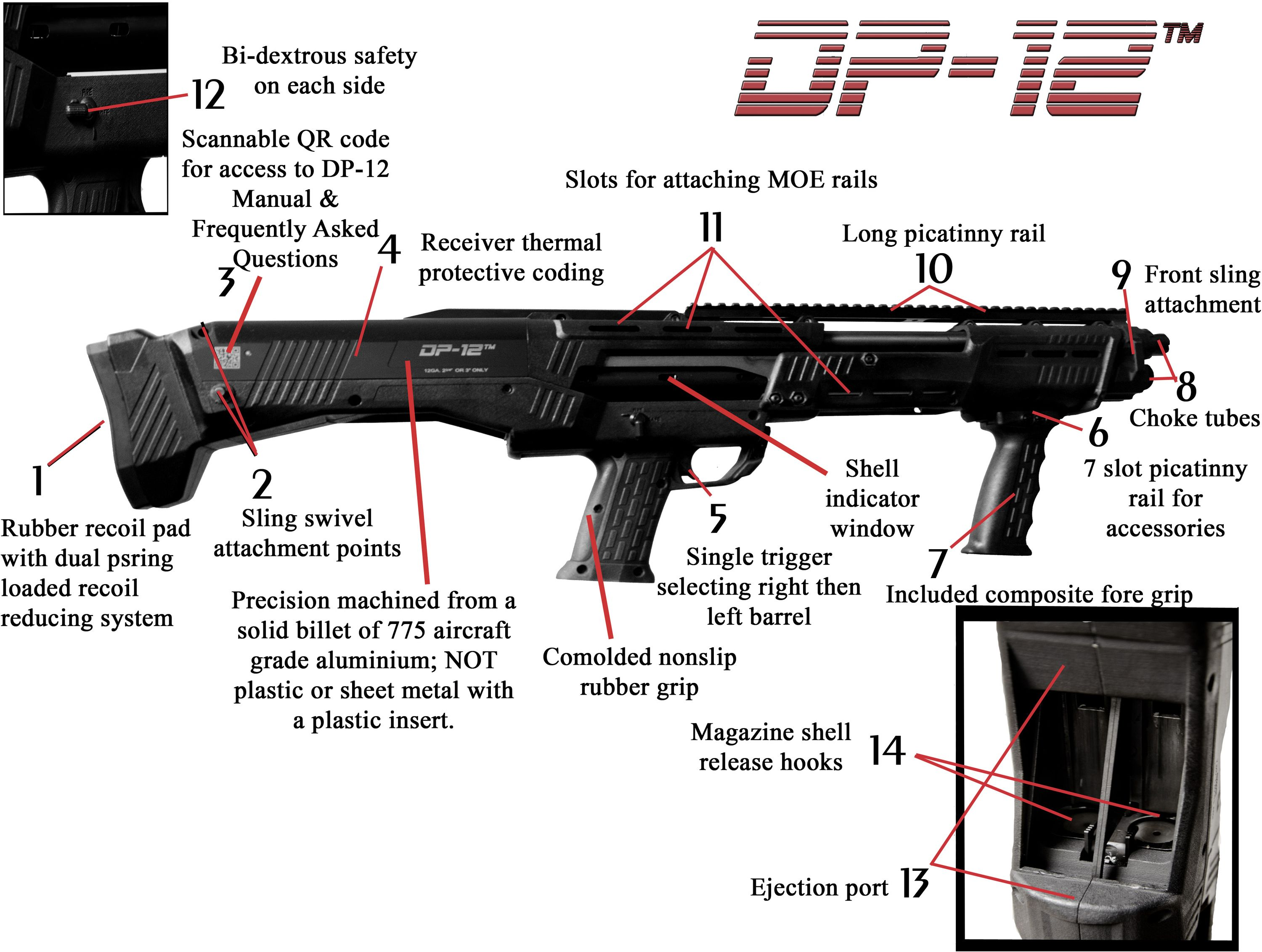 Dp 12 shotgun weight