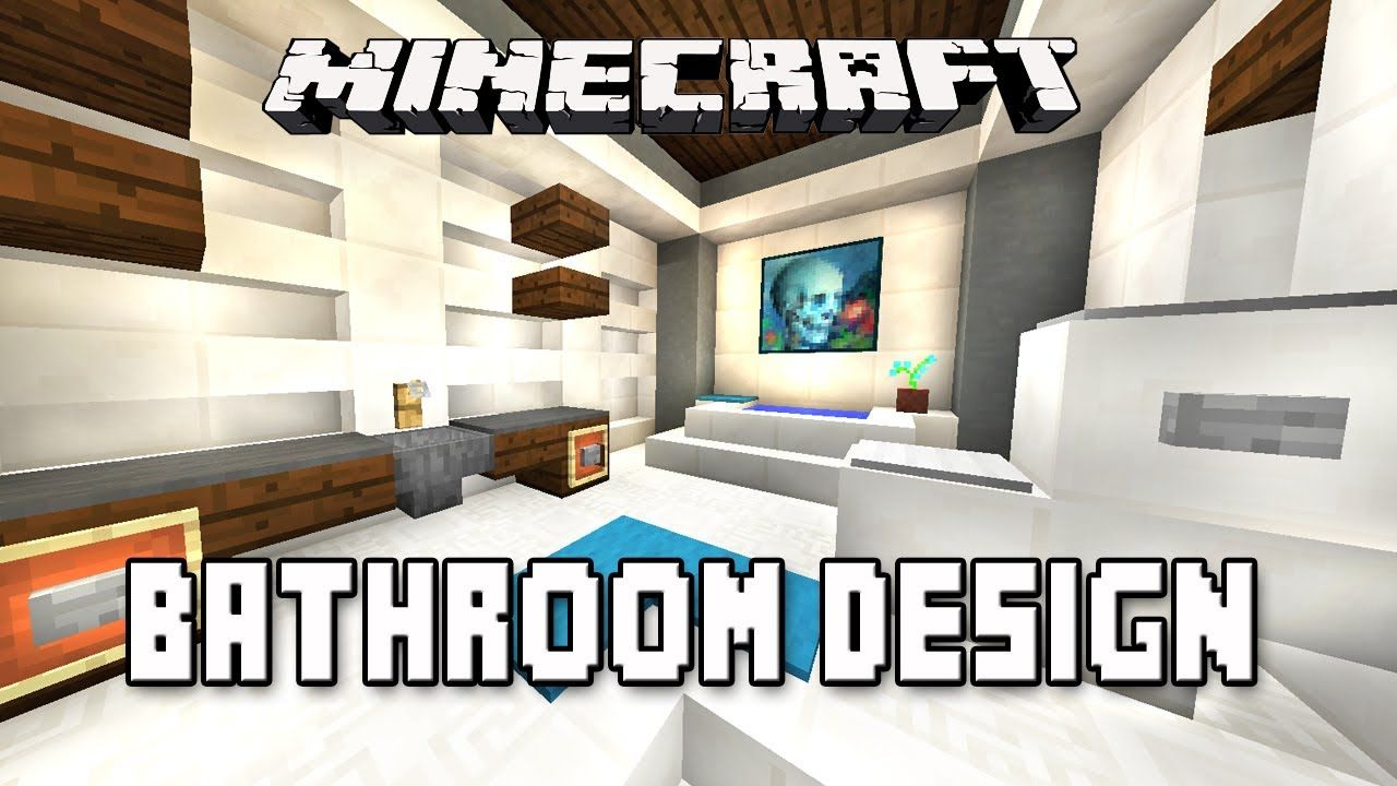 Minecraft Tutorial: How to Make A Modern Bathroom Design (Modern ...
