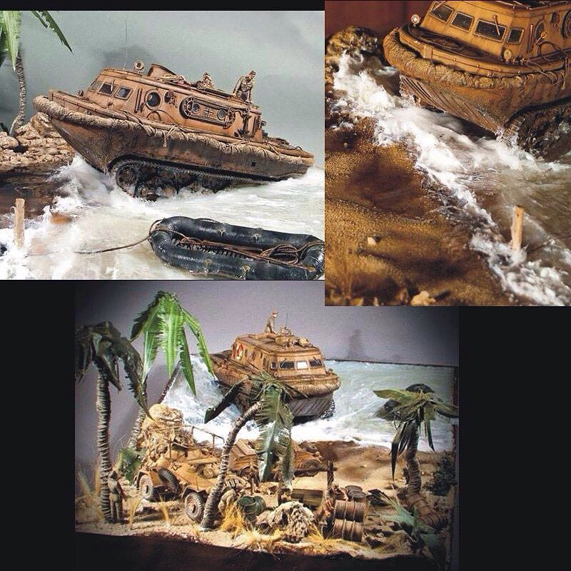 Diorama Desembarco en el Norte de Africa - Escala 1/35. PART2 By: Jose Manuel Rico Cortes (Mister JM) From: MiniaturasJM #scalemodel #plastimodelismo #miniatura #miniature #miniatur #hobby #diorama #humvee #scalemodelkit #plastickits #usinadoskits #udk #maqueta #maquette #modelismo #modelism