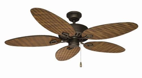 52 Rattan Oil Rubbed Bronze Wet Rated Outdoor Ceiling Fan Best