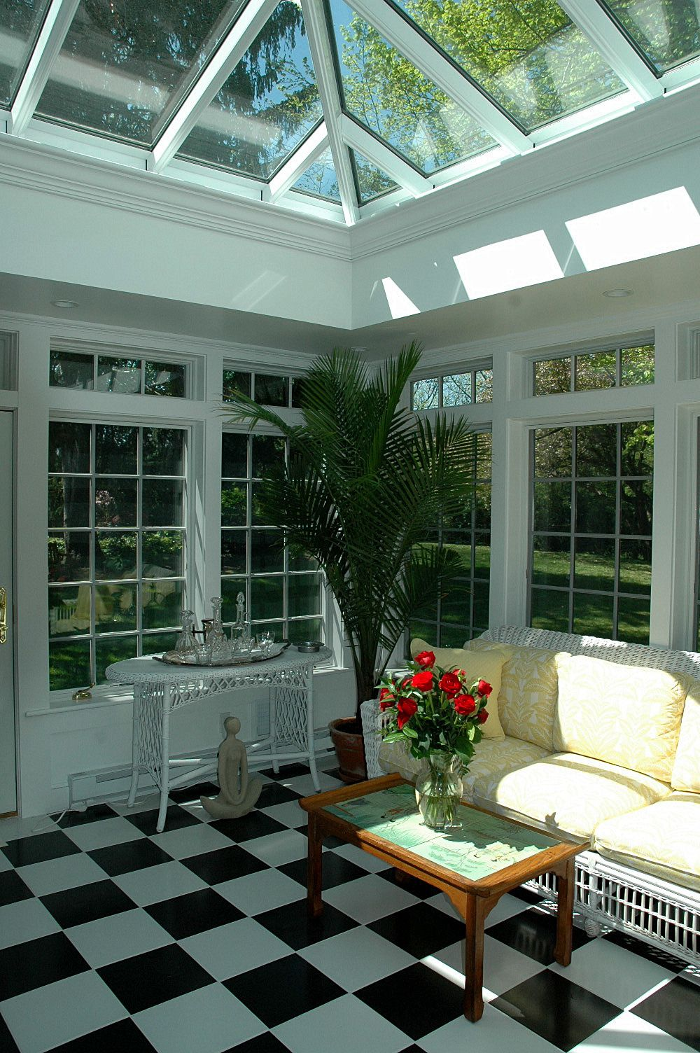 Sunroom Addition House Design Conservatory Design: Conservatory Design, Sunroom, Black, White Tiles