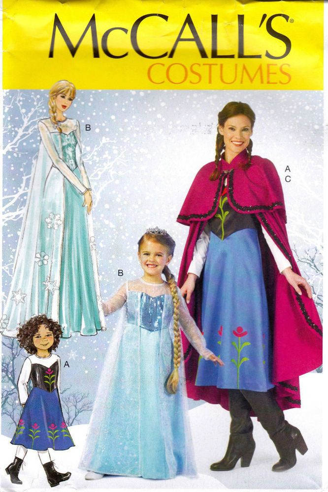 Womens FROZEN Elsa Anna Disney Princess Dress SEW Pattern McCall ...