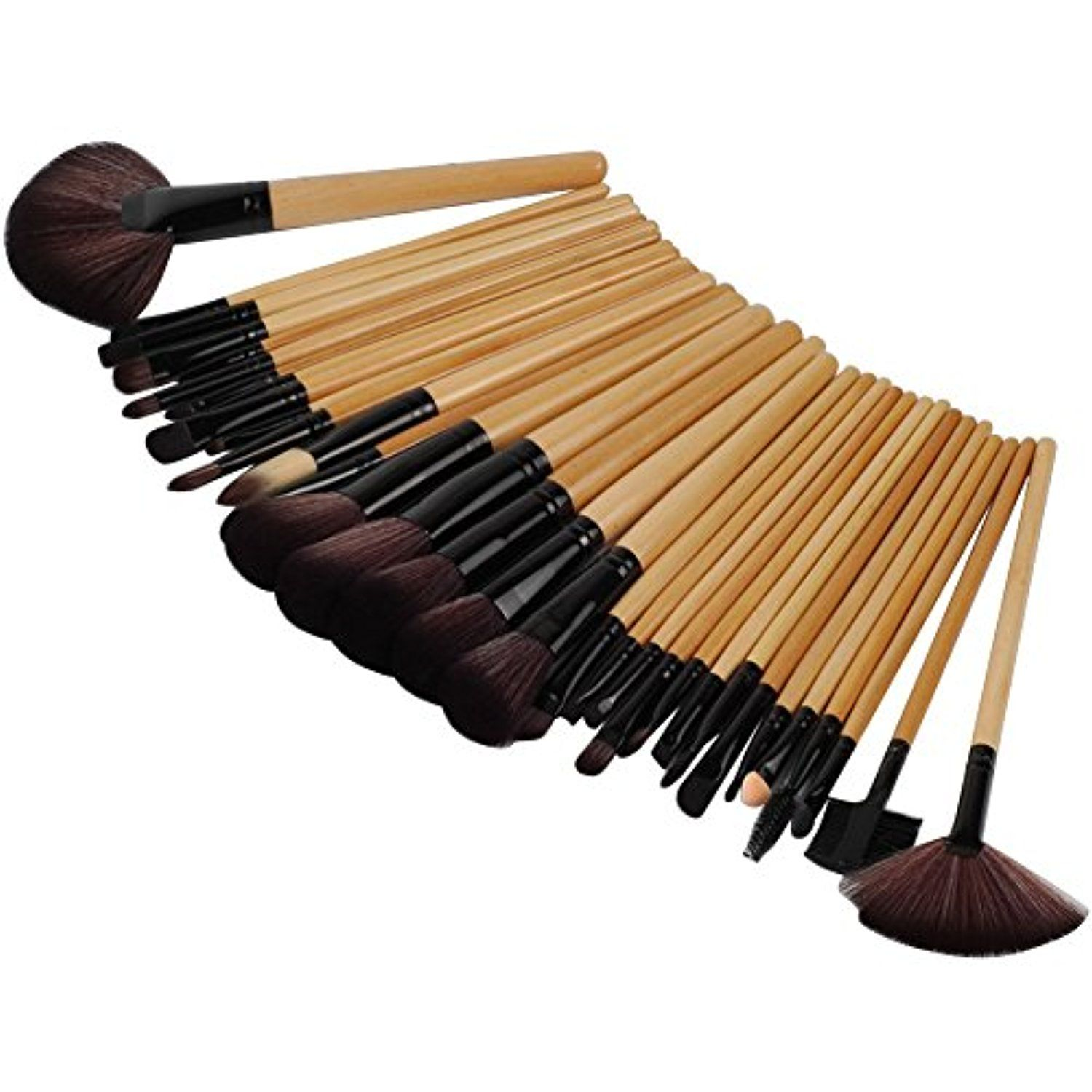 CN CHIC 32Pcs Wood Makeup Brushes Professional Cosmetic