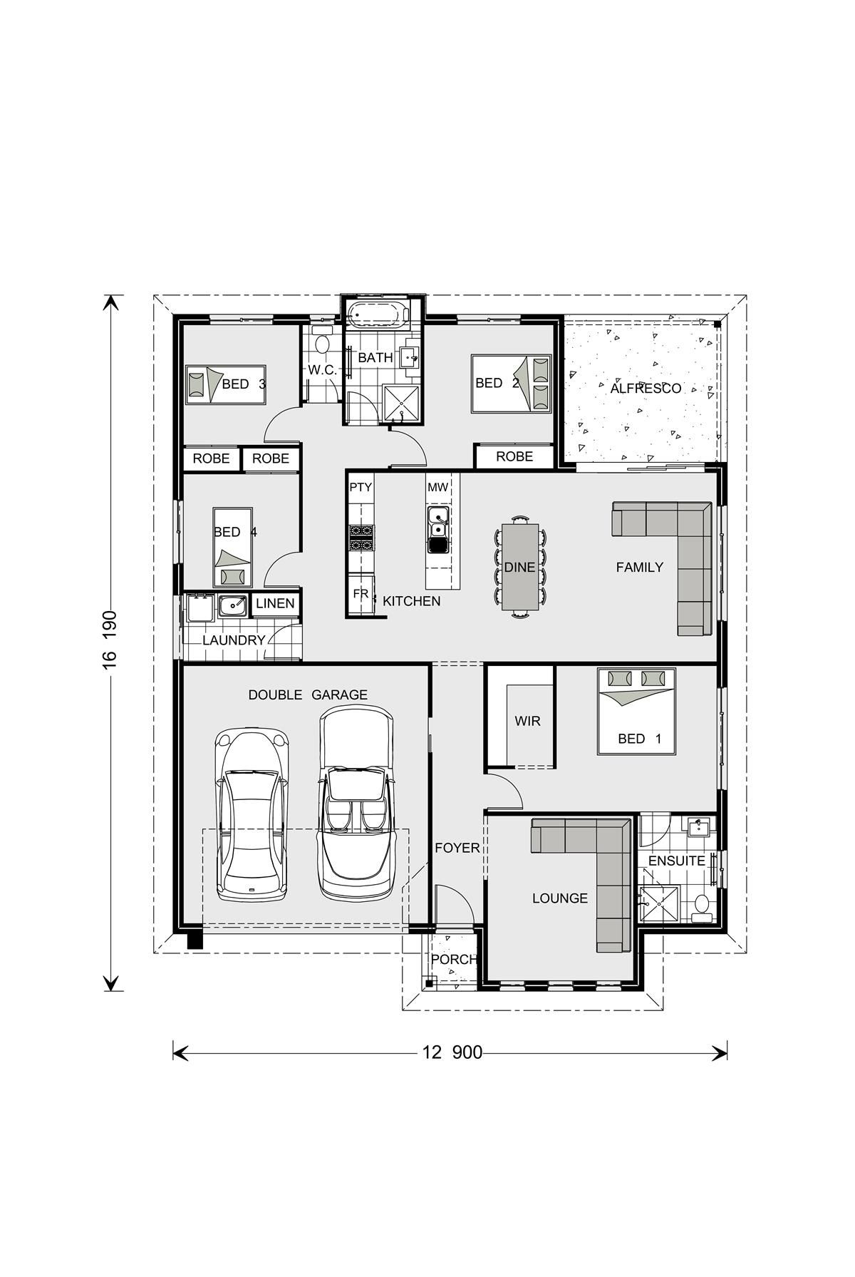 Fernbank 262 Home Designs In Batemans Bay Floor Plan Design Bathroom Floor Plans House Design